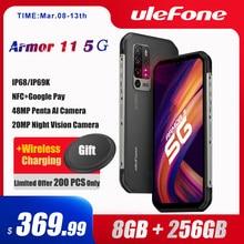 Ulefone Armor 11 5G Robuuste Mobiele Telefoon Android 10 8Gb + 256Gb Waterdichte Smartphone 48MP Nfc Mobiele telefoon Draadloos Opladen