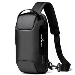 Men's Waterproof USB Oxford Crossbody Bag Anti-theft Shoulder Sling Bag Multifunction Short Travel Messenger Chest Pack For Male