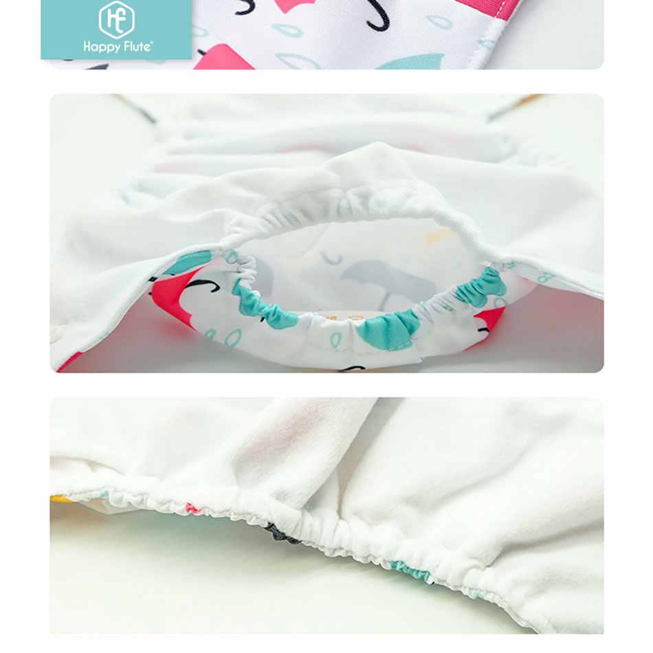 Happyflute 2020 Nova 4 pçs/set Lavável Pano Fraldas Ecológicas Fraldas Reutilizáveis Ajustável Fraldas de Pano Fit 3-15kg bebê 0-2years