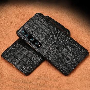Natural crocodile skin phone case for xiaomi mi 10 10 pro mi 9 mi 8 mi max 3 mix 3 cover for xiaomi Redmi Note 8Pro tective cap фото