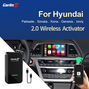 Carlinkit 2.0 Wireless CarPlay Adapter for Hyundai Palisade Sonata Kona Genesis Ioniq Accent Azera Grandeur Mistra Tucson Rouens image