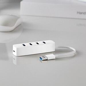 Image 4 - شاومي 4 منافذ USB3.0 Hub مع واجهة امدادات الطاقة الاحتياطية USB محور موسع تمديد موصل محول لأجهزة الكمبيوتر المحمول