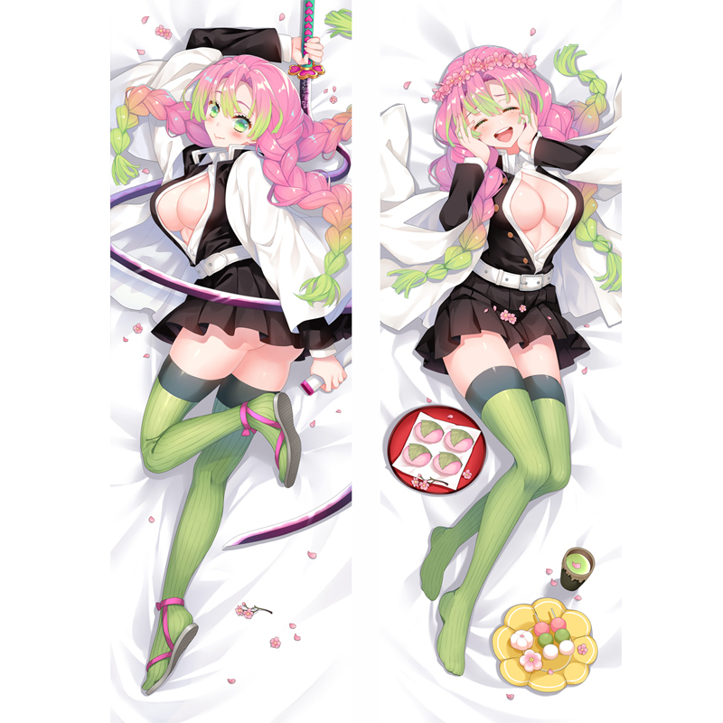 2020 Kawaii Kimetsu No Yaiba Kanroji Mitsuri Anime Cosplay Body Dakimakura Pillow Case  Cushion Cover Hug Body Lolita Bed Gift