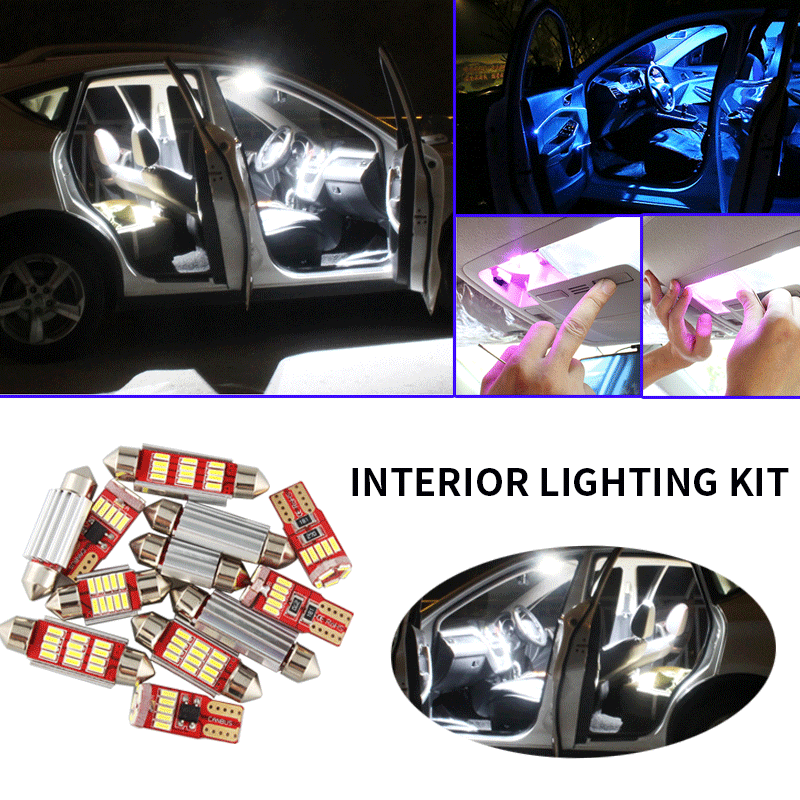 11x Canbus Error Free LED Interior Light Kit Package For 2009-2019 Dodge Journey Car Accessories Map Dome Trunk License Light