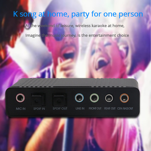 Image 5 - Оптический аудиоадаптер TISHRIC, внешняя звуковая карта 5,1 USB для наушников 3,5 мм, стерео микрофон, линия Spdif для ПК, компьютера, ноутбука
