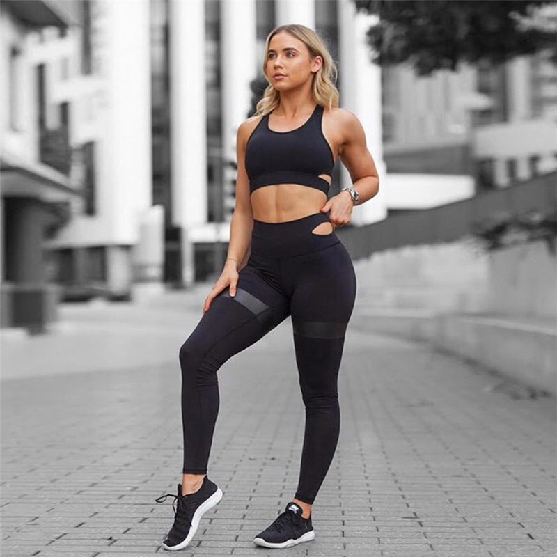 2018 Europe And America Cross Border Hot Sales New Style WOMEN'S Dress Yoga Fitness Trousers Set Yoga Suit Sports Running Set