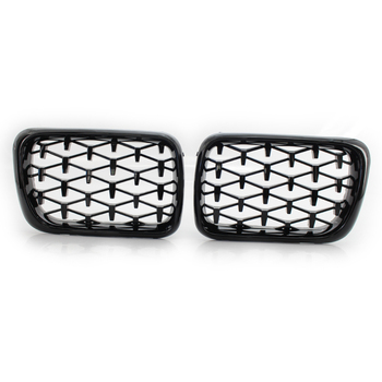 Meteor Black Front Kidney Grill Mesh Grille Modified Meteor Grille For BMW 3-Series F30 31 F35 2012-2017 Car Styling Accessories image