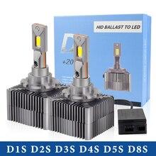 1set/2PC 20000LM Canbus Car light D1S D2S D3S D4S D8S D5S LED D1R D2R D3R D4R headllamp 90W  12V 6000K car LED bulb  waterproof