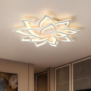 Image 1 - Современные светодиодные потолочные лампы, светильники для столовой, гостиной, украшения дома, лампа для спальни, ресторана, Диммируемый блеск