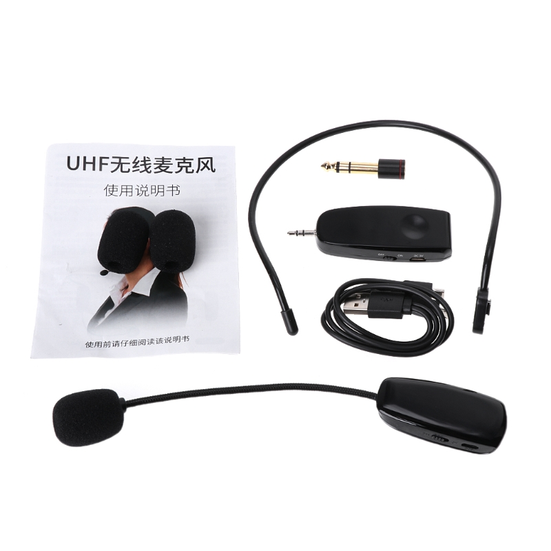 UHF Wireless Microphone Professional Head-wear Mic For Voice Amplifier Computer
