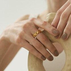 Nouvelle Collection creux O chaîne or anneaux pour femmes 18k plaqué or dames Index doigt anneau bijoux accessoires de fête