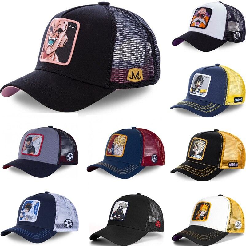 New Brand Dragon Ball Anime Cartoon Styles Snapback Cap Cotton Baseball Cap Men Women Hip Hop Dad Mesh Hat Trucker Dropshipping