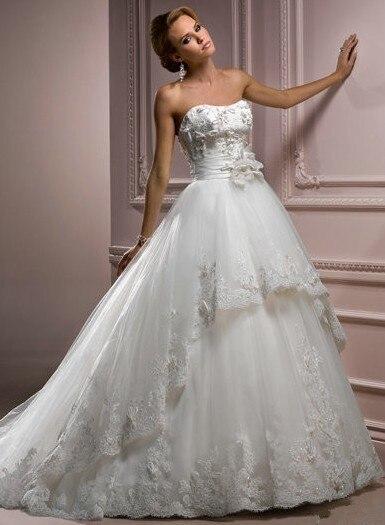 Free Shipping 2016 Kate Bandage Top Strapless Dress Beading Custom Size Guipure Embroidery Chiffon Dress Lace Wedding Dress