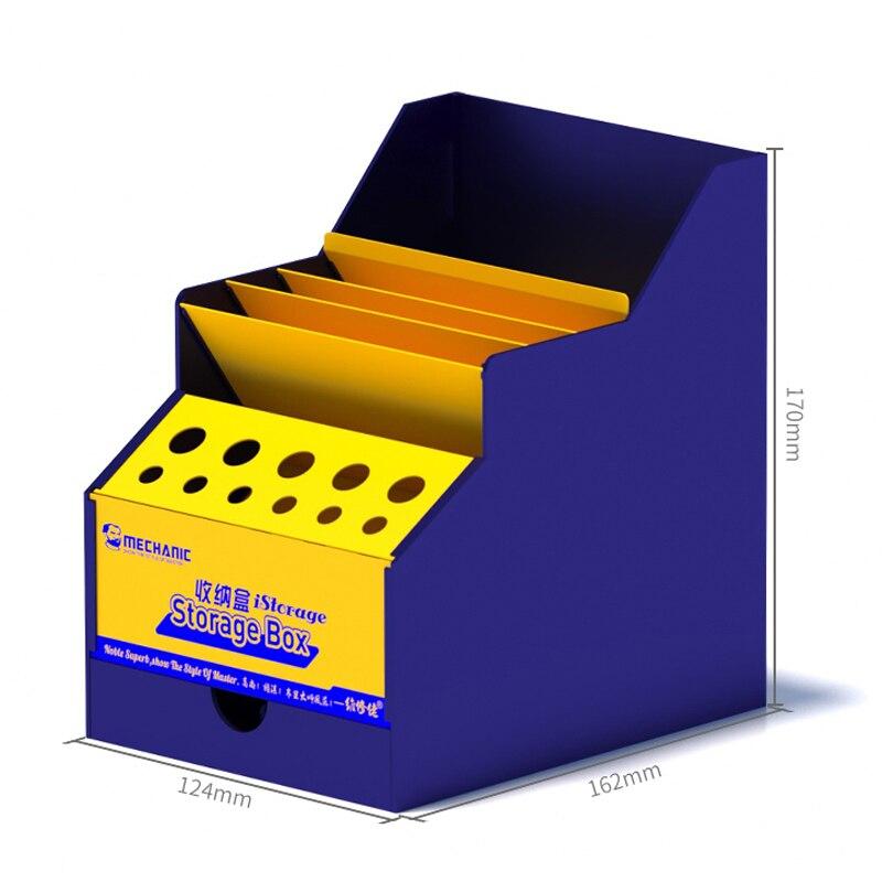Tools : Multi-function Mobile Phone Repair Tools Box PVC Storage Box Screwdrivers Tweezers Component Container Cellphone Repair Tool