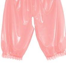 Латекс резина сексуальные Gummi розовые эротические боксеры, шорты, Трусы размер XXS-XXL