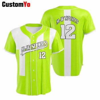 Profesjonalna koszulka baseballowa na zamówienie koszulka z krótkim rękawkiem Camisa Baseball Homme Beisbol koszulka baseballowa Camiseta