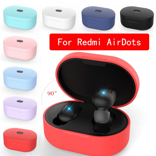Silicone Earphone Case for Xiaomi MI Redmi AirDots Headphones Cover TWS Bluetooth Earphone Wireless Headset Shell