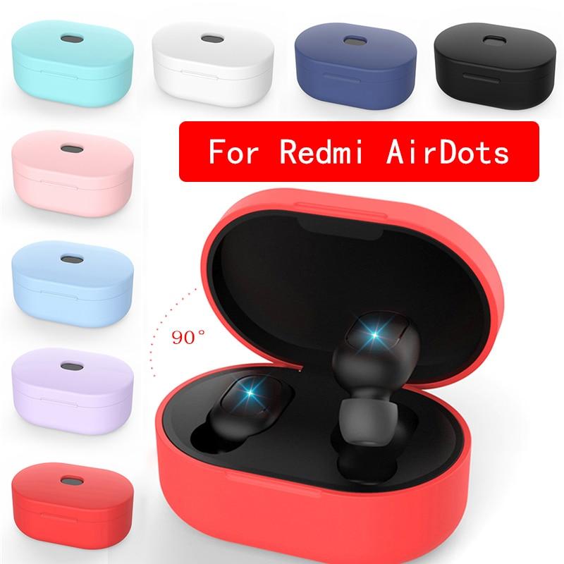 Силиконовый чехол для наушников Xiaomi MI Redmi AirDots, чехол для наушников TWS, Bluetooth наушники, беспроводная гарнитура, оболочка Аксессуары для наушников      АлиЭкспресс