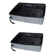 Litter-Box Bedpan Dog-Toilet-Tray Travel Outdoor Pet-Cat Folding Waterproof