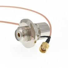SMA męski na SO239 UHF żeński grodziowy kątowy na radiowa antena samochodowa RF RG316 kabel 10FT 3M tanie tanio JYRF SMA Male To SO239 UHF Female