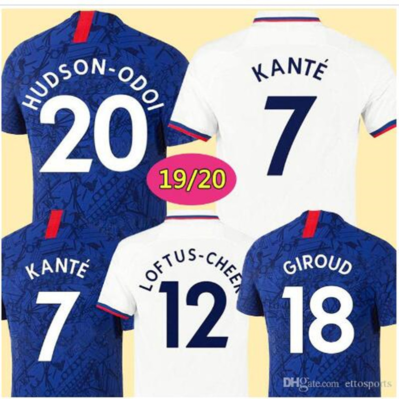 2019 2020 New HAZARD KANTE Chelsea Football Shirts Home Away Soccer Jerseys PULISIC HUDSON-ODOI HIGUAIN WILLIAN Chelsea Shirt