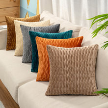 Роскошный бархатный чехол для подушки синий оранжевый хаки белый