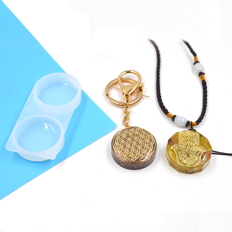 PopularRound And Diamond Silicone Molds UV Resin Mold Cute Decoration Pendant Necklace Pendant Mould Craft Jewellery Making Mold
