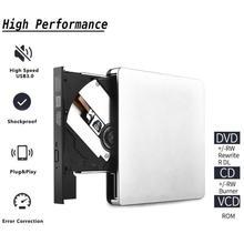 цена на Ultra-slim DVD USB 3.0 External DVD Drive DVD-ROM CD-RW DVD-RW Burner Player Reader дисковод for Laptop PC External DVD привод