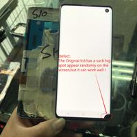 In Stock SUPER AMOLED LCD Display For SAMSUNG S10 G973 G973F LCD Display and Touch Screen Digitizer with a Black Spot Assembly