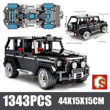 Building Blocks city hithg-Tech Creator Expert MOC G500 SUV AWD Wagon Car Bricks Classic Model Kids Boys Toys Kits sets
