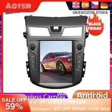 Para Nissan Teana Nissan J33 2013, 2014-2016, Tesla estilo Android 9,0 navegación GPS con DVD para coche Radio estéreo para coche Multimedia reproductor de la unidad