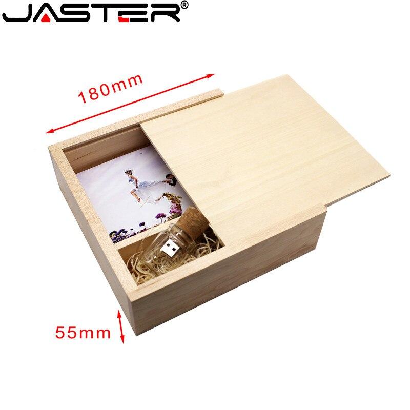 JASTER Free LOGO Walnut Wooden Photo Album USB + BOX Usb Flash Drive Pendrive 4GB 8GB 16GB 32GB 64GB Customer LOGO 180*180*55mm