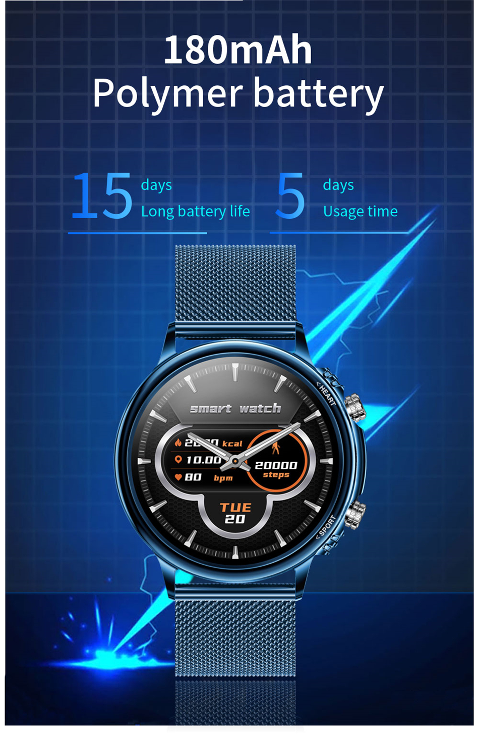 H2ebd4993c94444ceac6367470125e280P LIGE New Smart Watch Men Custom Dial Full Touch Screen Waterproof Smartwatch For Android IOS Sports Smart watch Fitness Tracker
