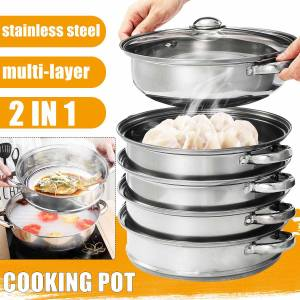 Steamer Pot Gas-Stove Cooking-Pots Induction-Cooker Soup for 5-Layers Universal Thick