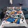 Luxus 3D Skateboard Drucken Home Living Komfortable Bettbezug Kissenbezug Kid Bettw��sche Set K��nigin und K��nig EU/UNS/AU/UK Gr����