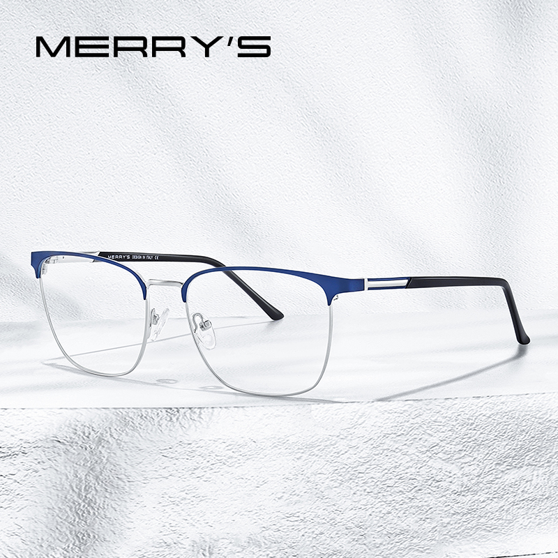 MERRYS DESIGN Men Luxury Alloy Optics Glasses Frames Male Square Ultralight Myopia Prescription Glasses Fashion Style S2058