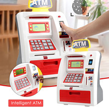 ATM Savings Bank Personal ATM Cash Coin Money Savings Bank Pink Machine  Saving ATM Bank Safe Box Auto Scroll Paper BanknoteGift