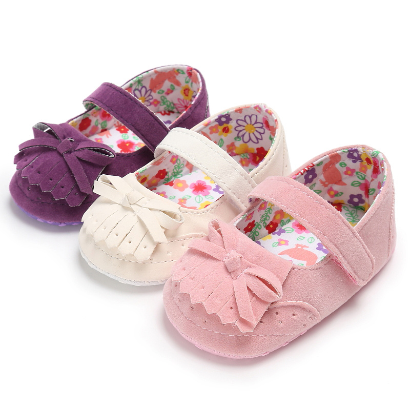 Baby Girl Shoes Princess China Style Cotton Sole Tassel Bowknot 0-2 Years Dress Shoes Baby Girl Infant Prewalkers Crib Shoes