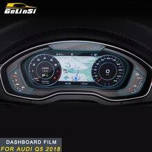 Gelinsi для Audi Q5 FY автомобильный Стайлинг панель монитора Защитная пленка для экрана HD крышка Накладка наклейка интерьерные аксессуары