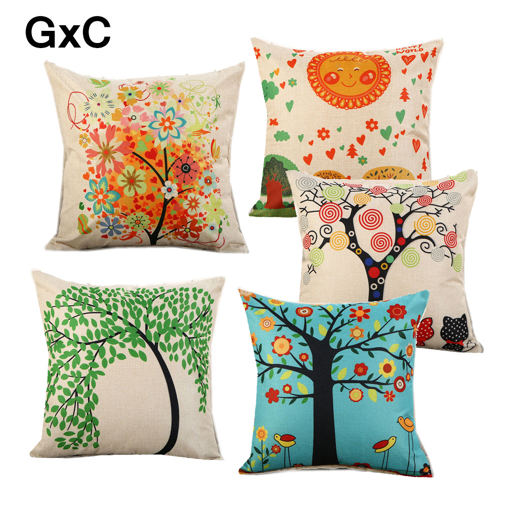 Painting Cushion Pillow Polyester pillows for sofa  Case Sofa Bed Decorative cushion cover