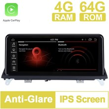 10.25 inch 8 Core 64G ROM Android 10.0 System Car GPS Navigation Media Stereo Radio ForBMW X5 E70 X6 E71 2007- 2010 CCC System