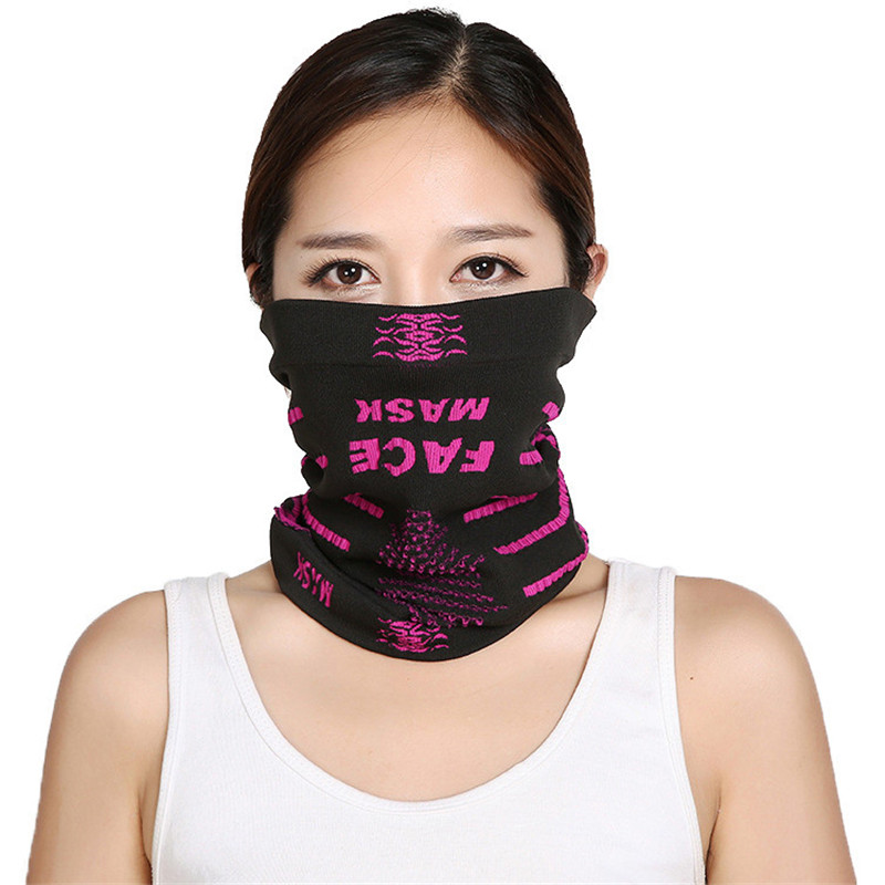 1pc Letter Print Summer Unisex Face Mask Scarf Breathable Soft Adult Mouth Mask Outdoor Sports Running Cycling Scarf Face Mask
