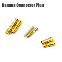 M. /-5 stücke/5 pairs/2,0mm/3,5mm/4,0mm/Gold Bullet Banana stecker Für RC FPV Racing Drone Quadcopter ESC Batterie Motor(China)