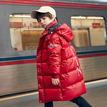 down jacket boy's mid long 2019 new Korean version of foreig