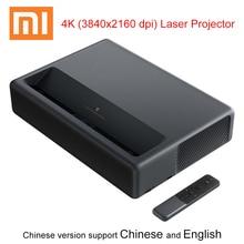 Xiaomi mijia lazer 4K projektör ile 5000 lümen Android Wifi 3840x2160 dpi ev sineması tv Beamer 2GB RAM 16GB ROM ALPD 3.0