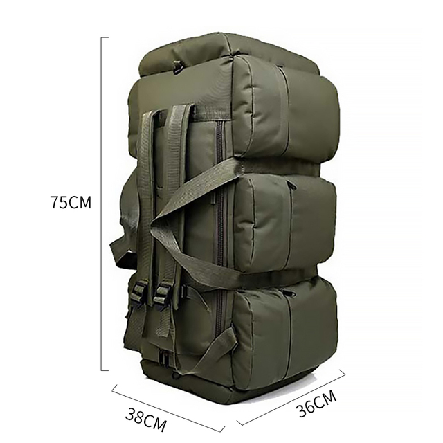 90L Large Capacity Men's Travel Bags Canvas Military Tactical Backpack Waterproof Hiking Climbing Camping Rucksack Bags XA216K 6