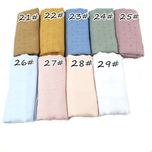 Image 4 - N8 High quality plain dyed viscose scarf hijab shawl lady wrap headband  long shawl 10pcs/1lot can choose colors