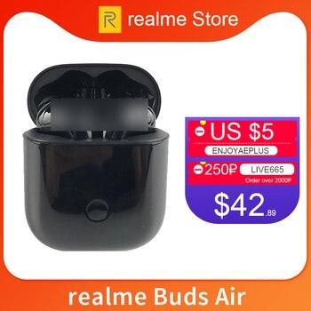 Перейти на Алиэкспресс и купить Gloabl версия OPPO realme Buds Air беспроводные наушники True Wireless Charing R1 чип двойной микрофон для realme X X2 Pro x50 Pro