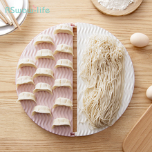 Creative Japanese Style Foldable Boiled Dumplings Noodles Round Trays For Home Plastic PP Antiskid Design Kitchenware Supplies