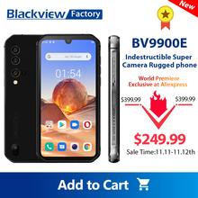 Smartphone Blackview BV9900E Helio P90 Octa Core 6GB + 128GB telefon komórkowy 48MP Quad tylna kamera 5 84 #8221 FHD + Android 10 Global 4G tanie tanio Nie odpinany CN (pochodzenie) Rozpoznawania linii papilarnych Rozpoznawania twarzy Inne 4380 Adaptacyjne szybkie ładowanie